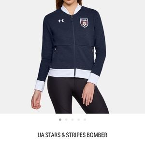 NWT Under Armour Stars & Stripes Jacket Size S